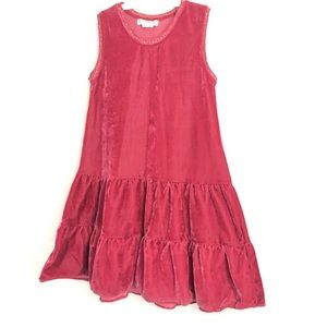 3T red sleeveless flowy dress